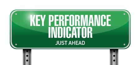 36110748 - key performance indicator road sign illustration design over a white background